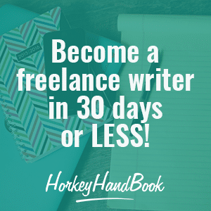 Become a freelance writer in 30 days or less! Start a profitable writing side hustle with the help of this amazing course!