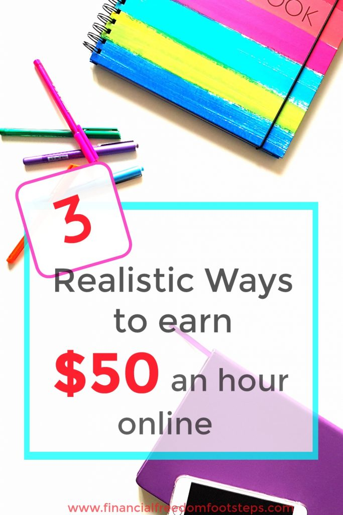 3 Realistic Ways to Earn $50 an Hour Online